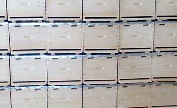 κυψέλες ξύλινες μπάρκας μελισσοκομική